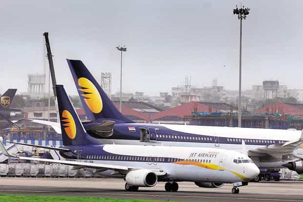 Jet Airways posted a Rs1,036 crore loss in the March 2018 quarter mainly due to high oil prices and weaker rupee. Photo: Mint