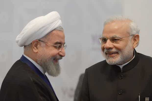 Iran President Hassan Rouhani and PM Narendra Modi. Oil is not just the biggest trade item, but also the most important Indo-Iran binding factor. Photo: AFP