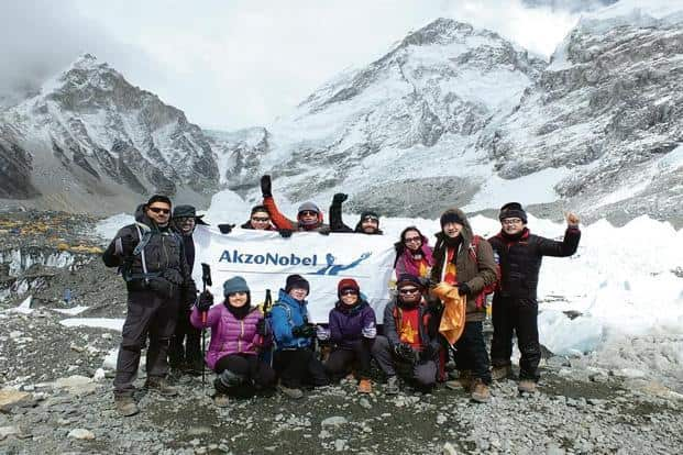 Building team spirit and unity at the foot of Mt Everest