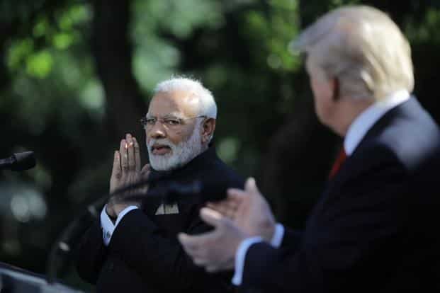 India has notified the WTO a revised list of 30 US imports on which it intends to impose retaliatory tariffs. Photo: Reuters