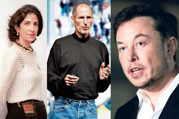 (from left) Cern director-general Fabiola Gianotti. Photo: AFFP, Steve Jobs. Photo: Bloomberg, and Tesla CEO Elon Musk. Photo: AP