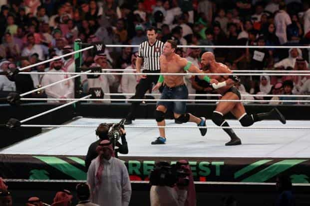 WWE shares rose as much as 8.1% in extended trading after the announcement. Photo: AFP