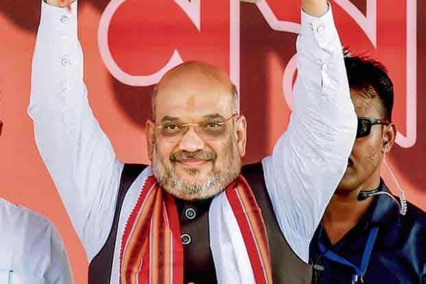 BJP president Amit Shah at a rally in Purulia district of West Bengal on Thursday. Photo: PTI