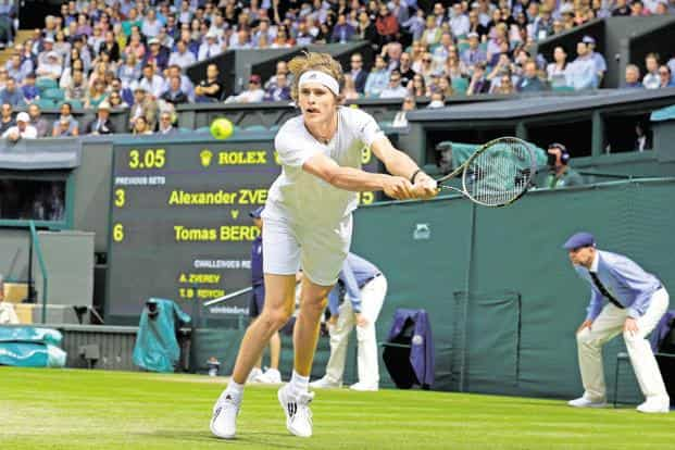 Alexander Zverev at Wimbledon 2016. Photo: AFP