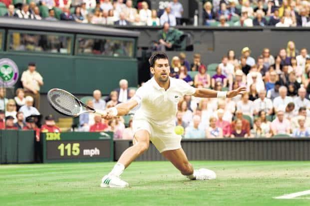 Novak Djokovic during Wimbledon 2017. Photo: Getty Images