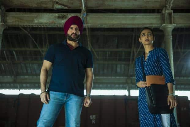 Saif Ali Khan and Radhika Apte in a still from 'Sacred Games', a Netflix original.