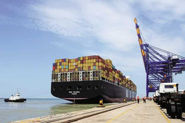 A file photo of the Mundra port. Indian Oil had in August last year said it will acquire up to a 50% stake in Mundra LNG import terminal in Gujarat for an estimated ₹ 750 crore. Photo: AFP