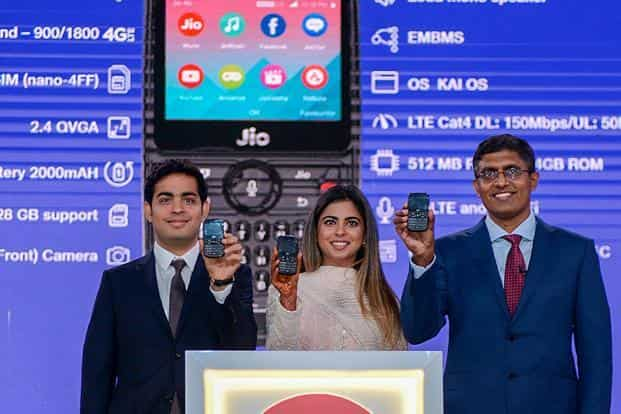 4a67cc80c ... The JioPhone features a 2.4-inch QWVGA screen and is powered by a dual-