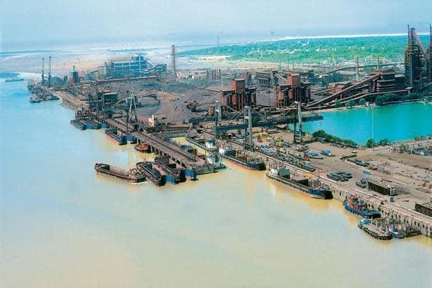 A file photo of Essar Ports' terminals at Hazira in Gujarat.