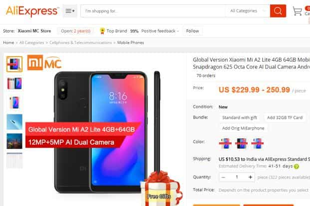 Xiaomi Mi A2 Lite on sale through AliExpress ahead of formal launch