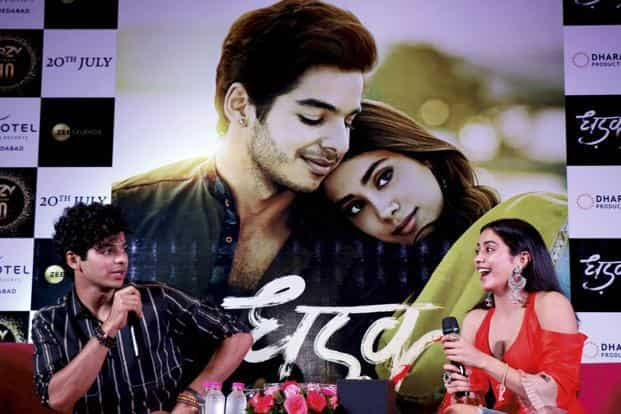 Bollywood actor Ishaan Khattar and actress Jhanvi Kapoor's debut film Dhadak is going strong at the box office following favourable word of mouth and curiosity surrounding the daughter of Sridevi. Photo: PTI