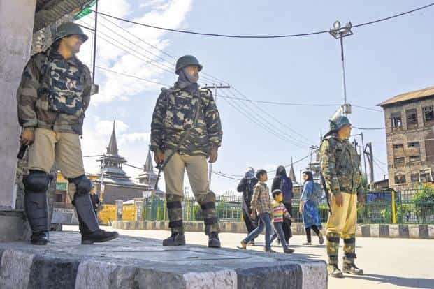 The encounter began Sunday morning as security forces launched a cordon and search operation in Khudwani after receiving specific intelligence input about the presence of militants in the area. File photo: PTI