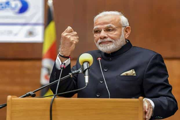 PM Narendra Modi is in Uganda on a two-day visit, ahead of the 10th BRICS Summit. Photo: PIB
