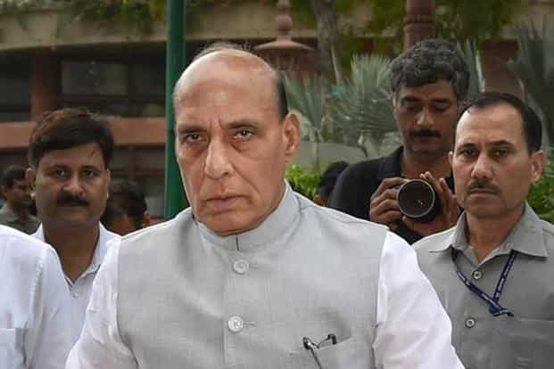 Union home minister Rajnath Singh has emphasised the need for the police forces to be given modern equipment and weapons. Photo: PTI