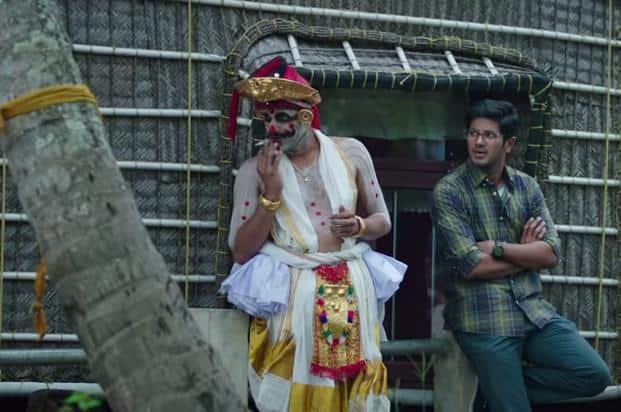 Dulquer Salmaan in a scene from 'Karwaan'