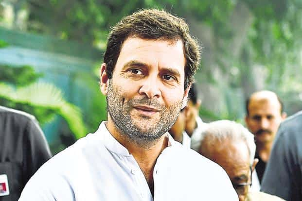 Rahul Gandhi said that it was important for the Congress to 'reach out to the victims of mindless violence and public support them'. Photo: HT