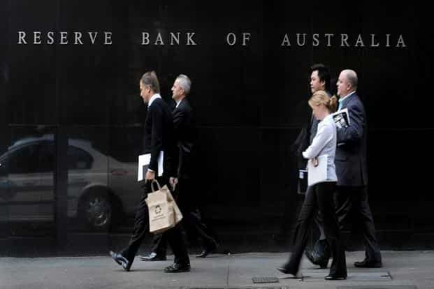 The Reserve Bank of Australia building in Sydney. Australia grew at an annualized rate 3.1% in the second quarter, beating expectations. Photo: Bloomberg.
