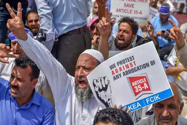 Protests continued in the Valley and shops and businesses remained shut, while additional forces have been deployed across sensitive locations in Kashmir to pre-empt any episode of violence. Photo: PTI