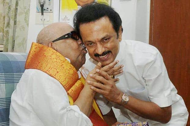 Karunanidhi chose his son M.K. Stalin, over daughter Kanimozhi and his other son M.K. Alagiri, as his political heir in Dravida Munnetra Kazhagam (DMK). Photo: PTI