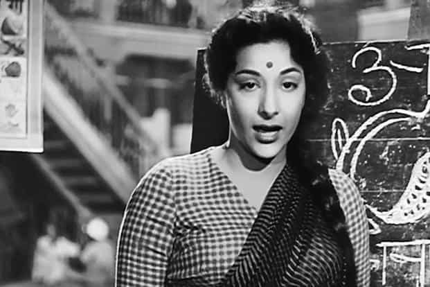 "A still from the song ""Ichak Dana Beechak Dana' from the 1955 film 'Shree 420'."