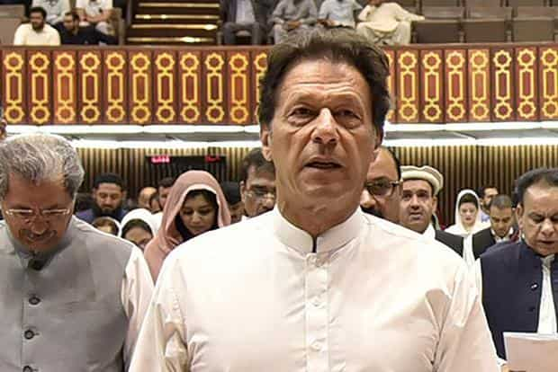 Imran Khan's PTI party won 116 of the 272 elected seats in the National Assembly, which is expected to vote in the former sportsman as prime minister on Friday. Photo: AFP