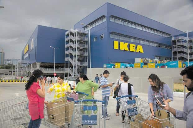 IKEA opening day at Hyderabad. Photo: PTI