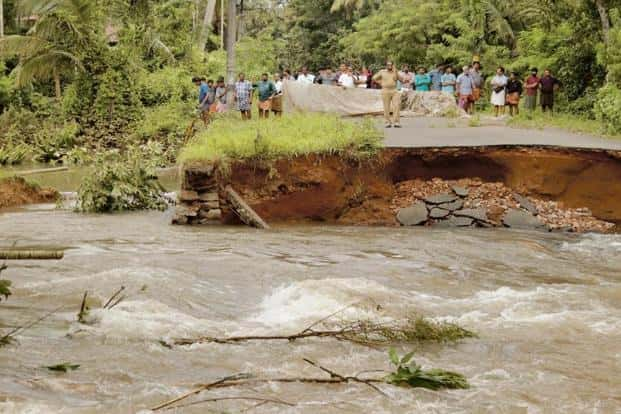 The Kerala floods have highlighted the need for adopting a different approach in building roads. Photo: PTI