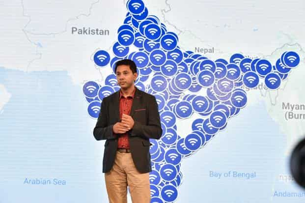 Caesar Sengupta, Vice President of Product Management at Google, speaks at the fourth edition of Google for India event, in New Delhi. Photo: PTI