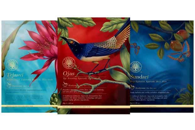 Forest Essentials' Ayurvedic Sheet Masks.