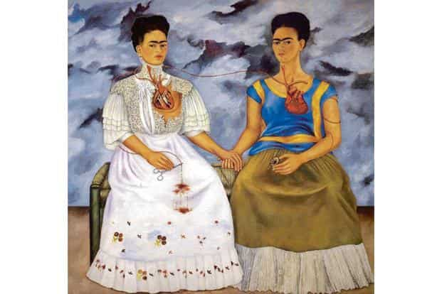 Artist Frida Kahlo used the image of the severed heart memorably in her paintings, as in 'The Two Fridas' (1939). Photo: Alamy