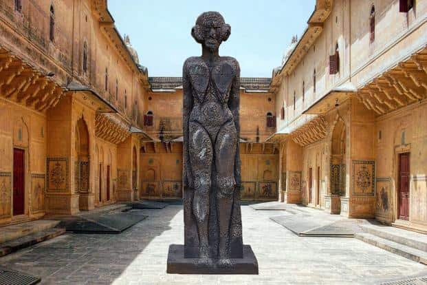 Huma Bhabha's 'God Of Some Things' (2011) at The Sculpture Park, Jaipur. Photo: The Sculpture Park