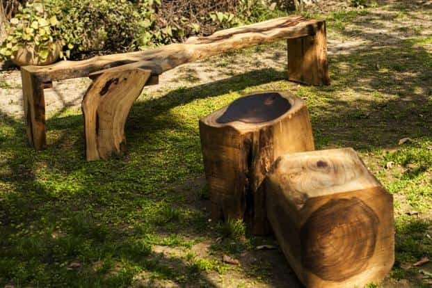 Stump and Y bench from Differniture.