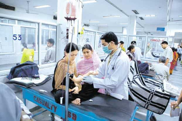 Access to government health insurance schemes appears to have reduced health costs for the poorest quintile (or bottom 20%) significantly. Photo: Mint