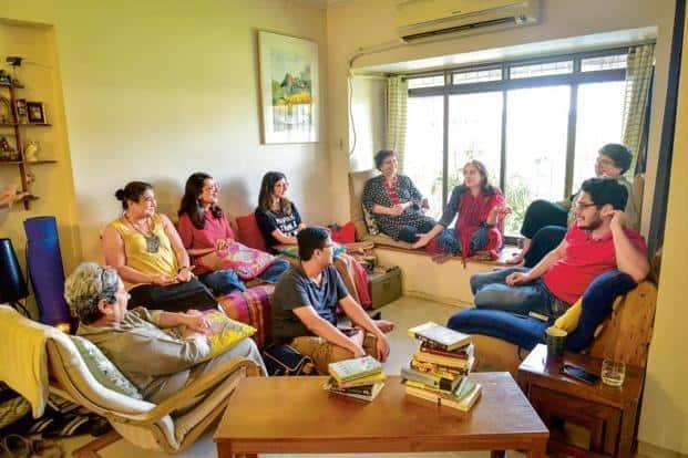 A book club meet at Laxmi Honavar's home in Mumbai. Photo: Aniruddha Chowdhury/Mint