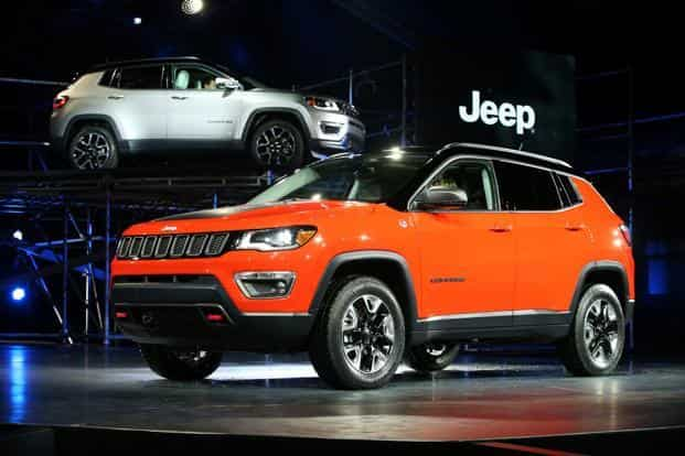 The Jeep Compass. Fiat plans to launch two more locally produced Jeep models in the next three years—a sub-four metre SUV placed below the Compass and a three-row SUV. Photo: Reuters