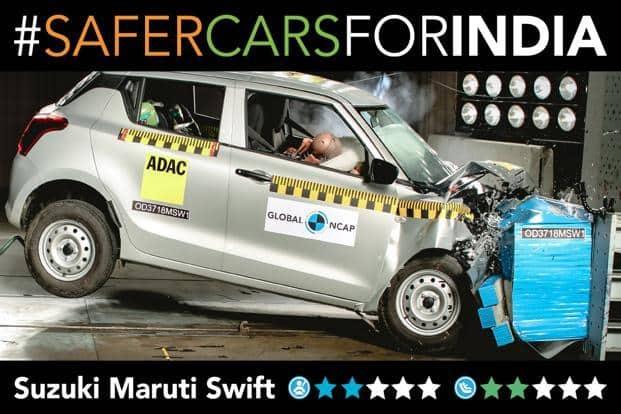 Maruti Suzuki Swift scores 2 stars in NCAP crash test