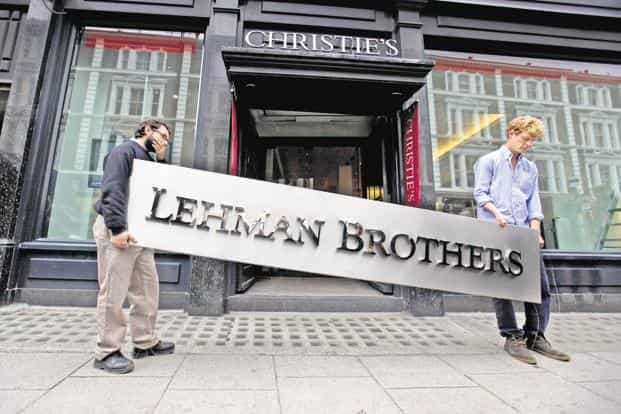 The fund's warning comes on the 10th anniversary of the collapse of Lehman Brothers, which plunged the world deeper into financial crisis and helped trigger the worst recession since the Great Depression. Photo: Getty Images