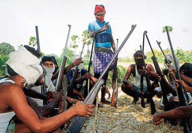 A file photo of Maoist guerillas in Bihar.  Photo: AFP
