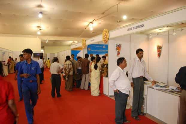 A file photo of a job fair conducted by ministry of Labour & Employment. Photo: Mint