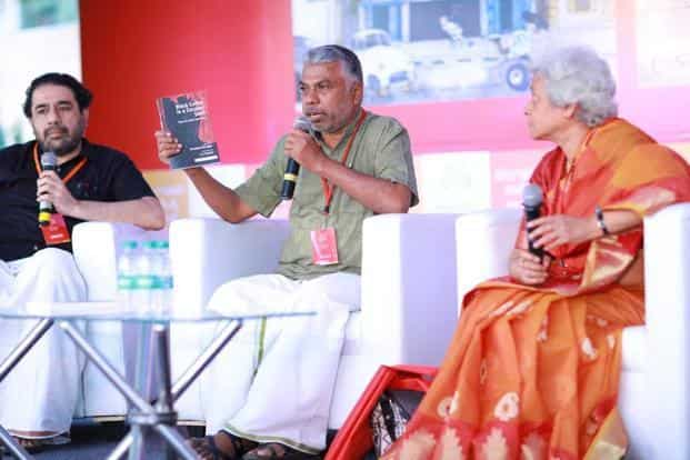 Perumal Murugan and others at BLF 2017.