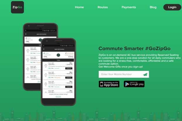 Founded in 2015 by Gaurav Agarwal, Jitender Kumar and Pritesh Gupta, ZipGo reserves seats for commuters on its buses through an app, similar to cab aggregators like Uber and Ola.