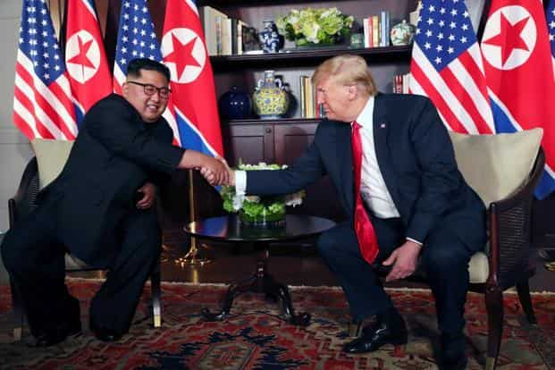 North Korean leader Kim Jong Un and US President Donald Trump pledged to work toward denuclearisation at their landmark June summit in Singapore, but the agreement was short on specifics. Photo: Reuters