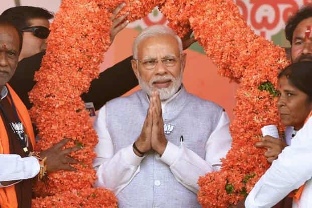 The average 7.35% GDP growth rate delivered by Narendra Modi in the last four years now trumps the 6.7% pace of the preceding nine, thanks to the new GDP back series. Photo: PTI