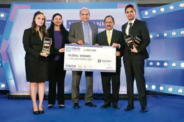 (From left to right) Divya Wadhawan, IIM Bangalore; Chandrima Sinha, vice-president, Invest India; S.C. Kalia, non-executive non-independent director, Yes Bank; Ajai Kumar, non-executive director, Yes Bank, and Mohd Farhan Ansari, IIM Bangalore.