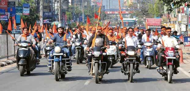 A VHP rally in Guwahati on 25 November. The outfit is planning to hold smaller congregations across the country.