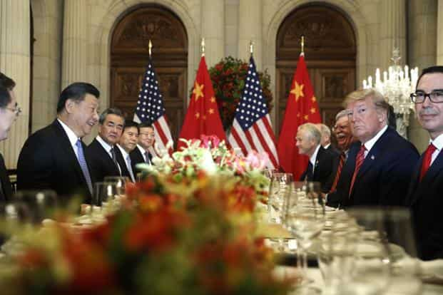US President Donald Trump and his Chinese counterpart Xi Jinping during their bilateral meeting at the G20 Summit. Photo: AP