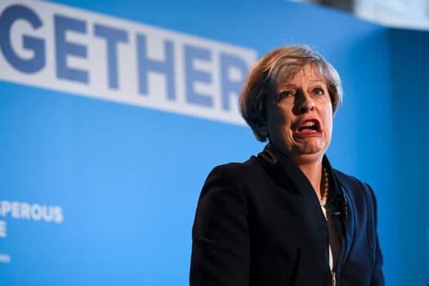 UK Prime Minister Theresa May. File Photo: Bloomberg