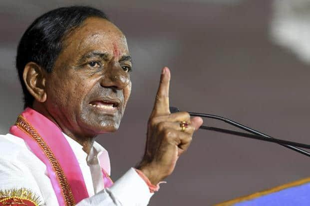 K Chandrasekhar Rao leading in Telangana Assembly Election 2018.  Photo: AP/PTI