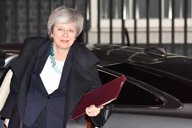 PM Theresa May is looking to resolve the impasse over her deal as quickly as possible. Photo: AFP