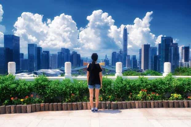 Shenzhen's clear skies defy the image of an industrial city in China: smoky factories and smoggy skies. Photo: ALAMY